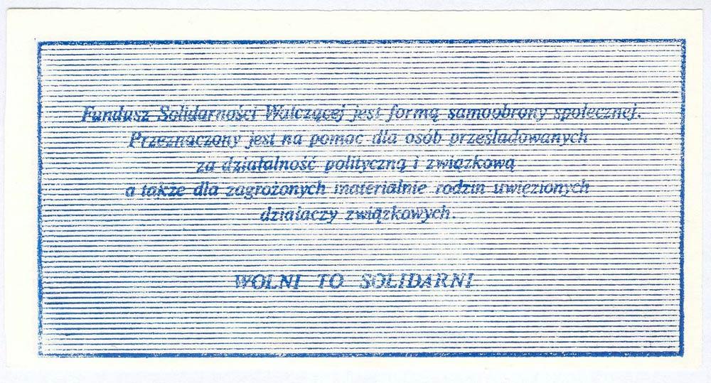 Rewers 200 złotych 1984 z Janem Pawłem II Fundusz Solidarności Walczącej