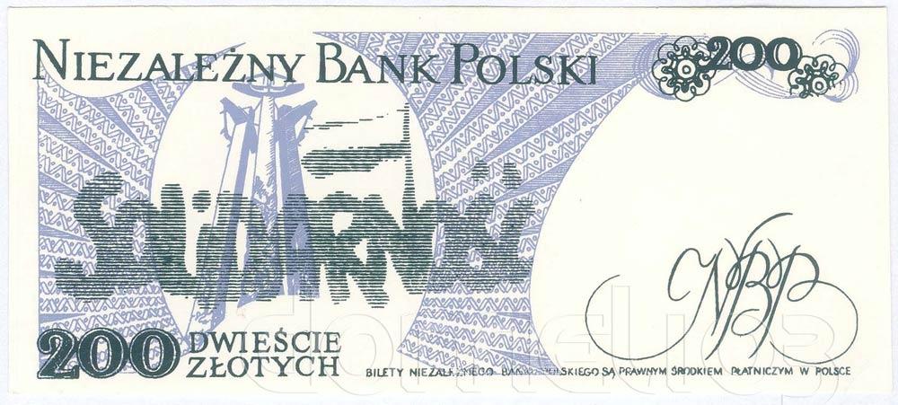 Rewers 200 złotych 1986 ze Zbigniewem Bujakiem