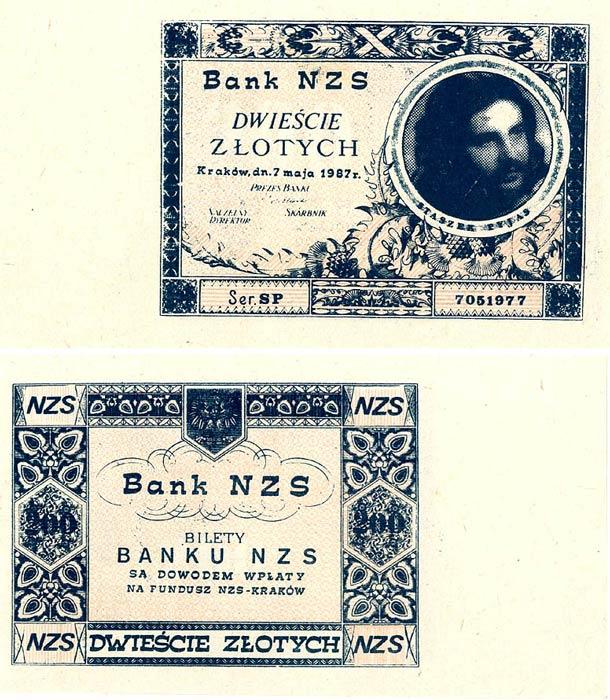200 złotych Bank NZS