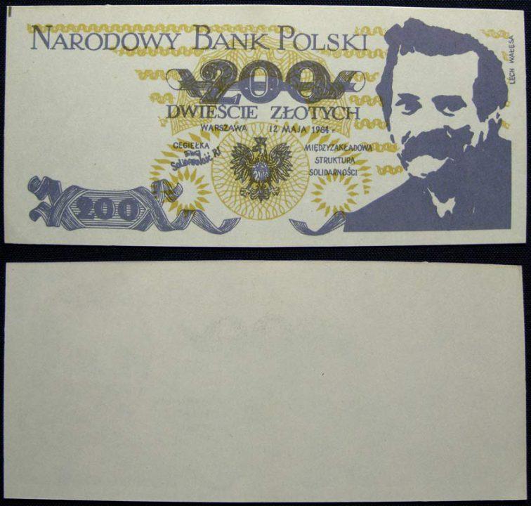 200 złotych cegiełka z Lechem Wałęsą