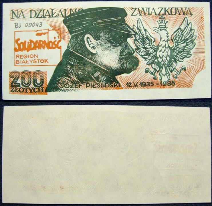 200 złotych na działalność związkową z Józefem Piłsudskim
