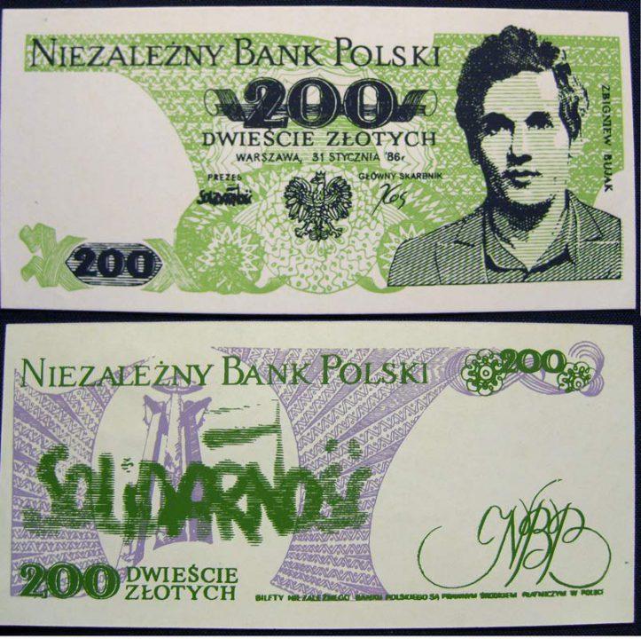 200 złotych Niezależny Bank Polski Zbigniew Bujak