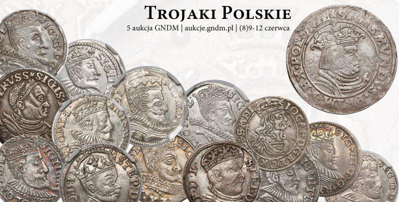 Kolekcja trojaków polskich na 5 Aukcji Numizmatycznej GNDM