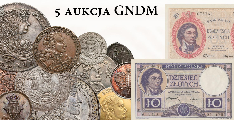 5 Aukcja Numizmatyczna GNDM