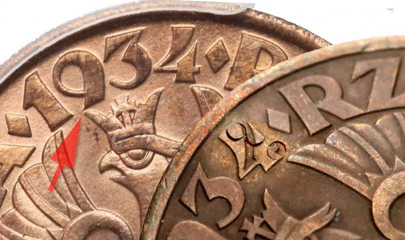 Fałszerstwo 5 groszy 1934