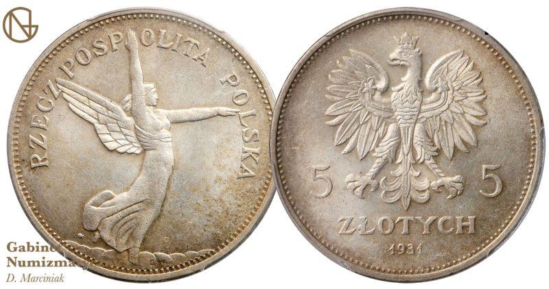5 złotych 1931 Nike