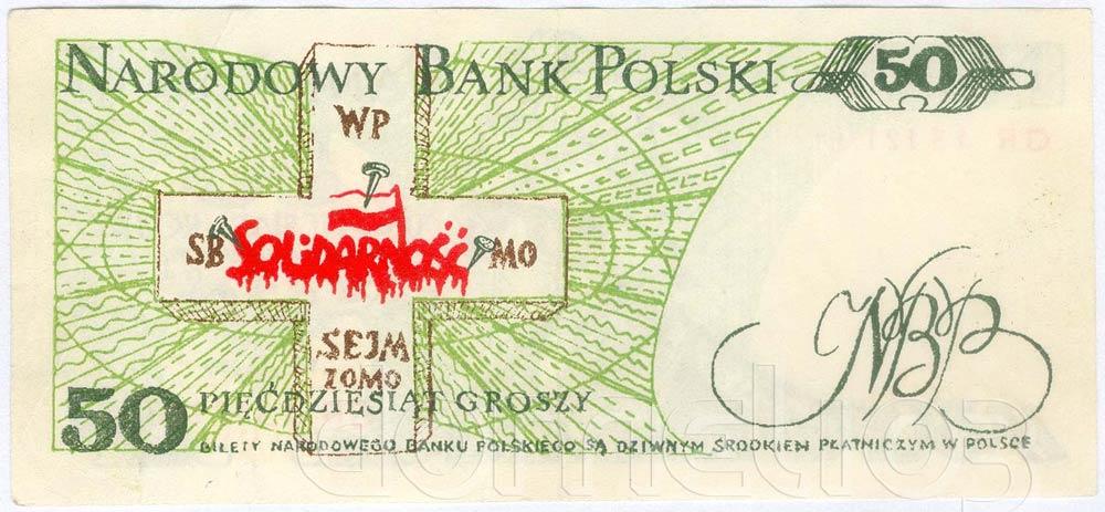 Rewers 50 groszy 1982 odmiana 1