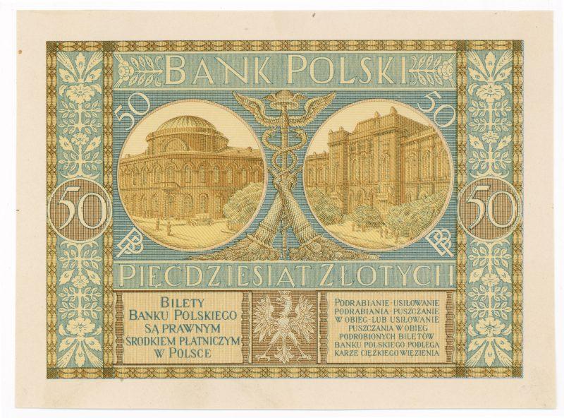 Próba kolorystyczna 11 banknotu 50 złotych 1925