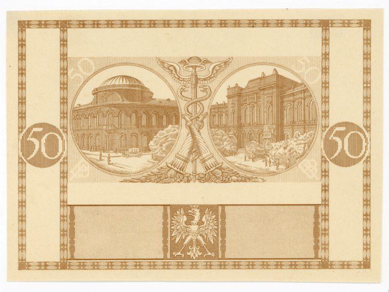 Próba kolorystyczna 2 banknotu 50 złotych 1925