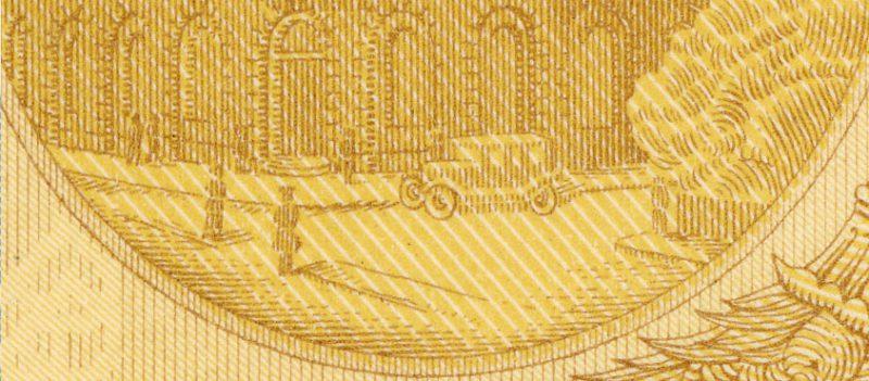 Trzecia warstwa banknotu 50 złotych 1925