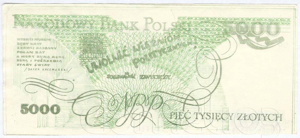 Rewers 5000 złotych 1980 ze Zbigniewem Bujakiem