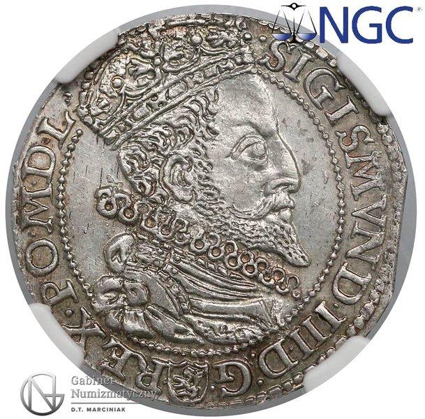 Awers Szóstak Malbork 1596 z dużą głową króla