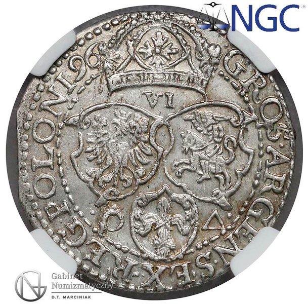 Rewers Szóstak Malbork 1596 z dużą głową króla
