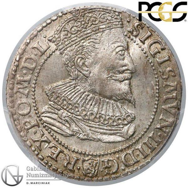 Awers Szóstak Malbork 1596 z małą głową króla