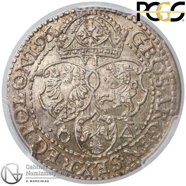 Rewers Szóstak Malbork 1596 z małą głową króla