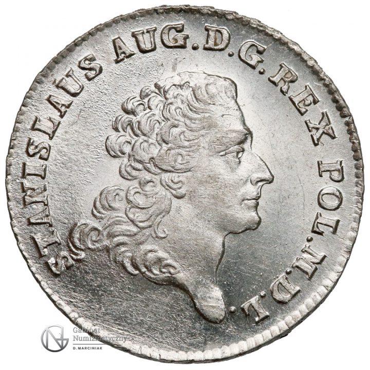 Awers 8 groszy 1768 I.S. Poniatowski