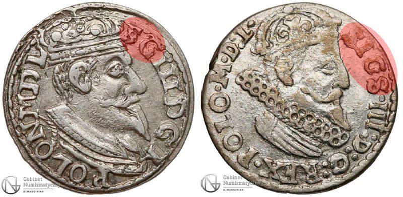 Błędy na trojakach Zygmunta III Wazy w imieniu króla