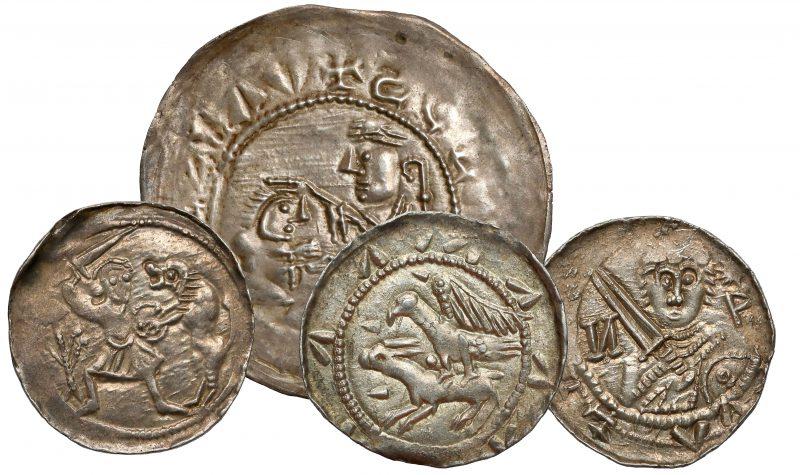 Brakteat Bolesława III Krzywoustego w zestawieniu z denarami Władysława II Wygnańca
