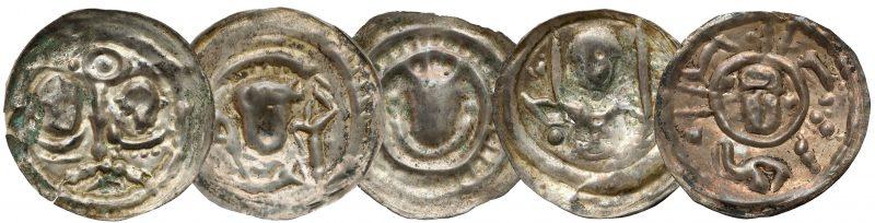 Brakteaty ratajskie Henryka I Brodatego z 10 aukcji GNDM