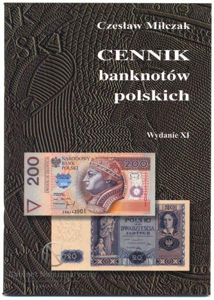 Okładka przednia Cennika banknotów polskich Czesława Miłczaka wydanie XI