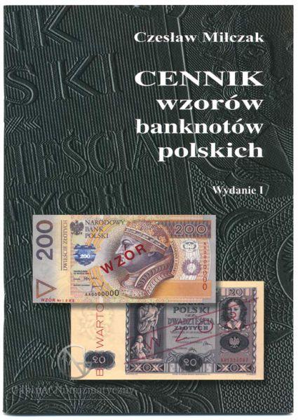 Okładka przednia Cennika wzorów banknotów polskich Czesława Miłczaka wydanie I