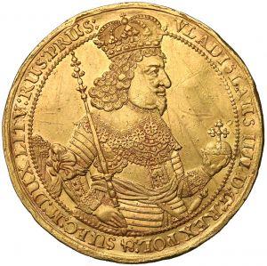 Awers donatywy gdańskiej 1644 wagi 10 dukatów poświęconej Władysławowi IV