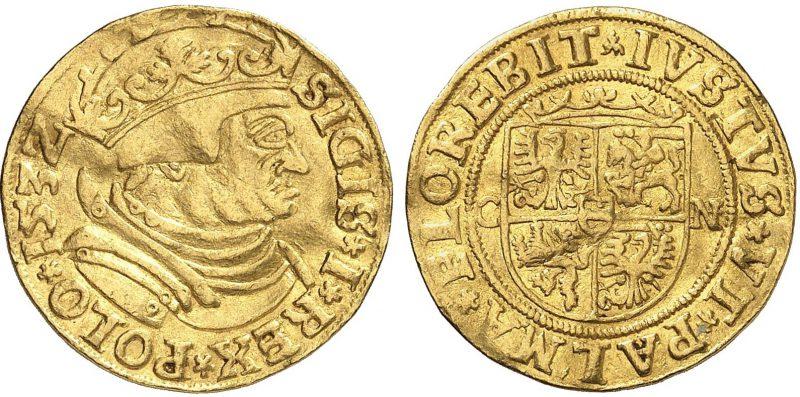 Dukat 1532 Zygmunta I Starego odmiana CN