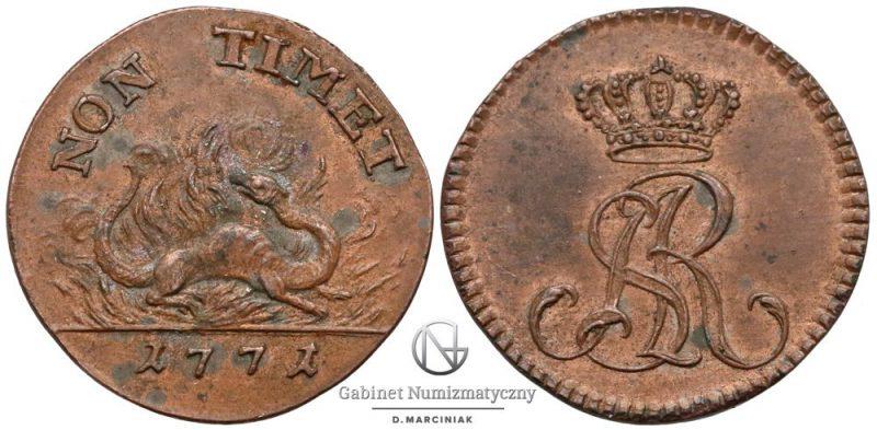 Dwugrosz 1771 z Salamandrą
