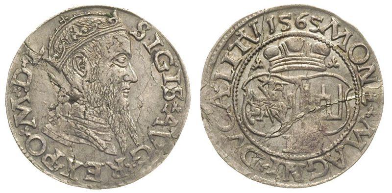 Dwugrosz wileński 1565 Zygmunta II Augusta