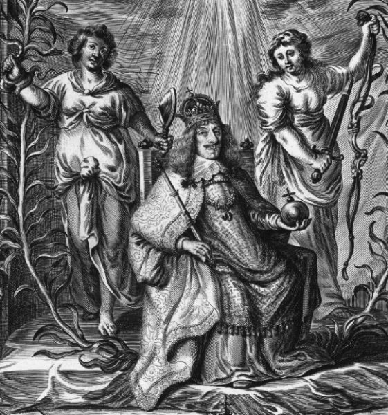 Fragment apoteozy na koronację Jana II Kazimierza Wazę