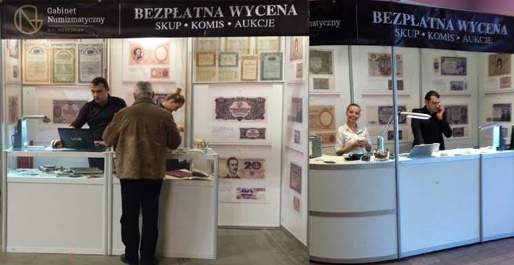 Skup i wycena monet i banknotów podczas targów