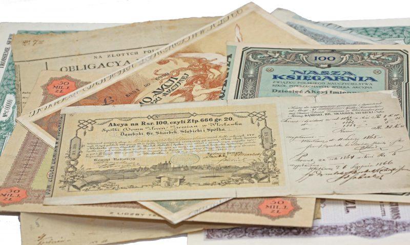 Skup i wycena starych akcji i obligacji