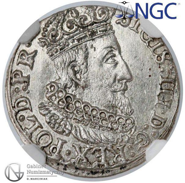Awers grosza gdańskiego 1624