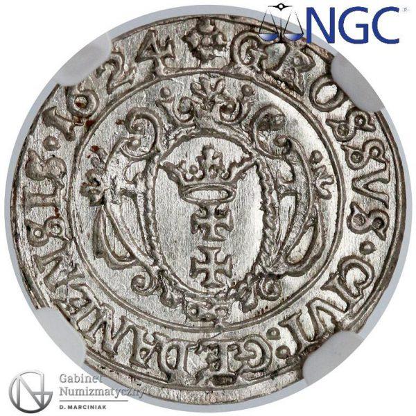 Rewers grosza gdańskiego 1624