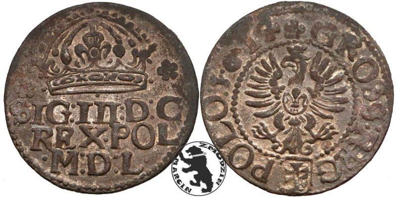 Ciężka odmiana grosza krakowskiego 1614