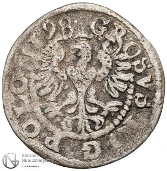 Rewers Grosz Lublin 1598 Zygmunta III Wazy
