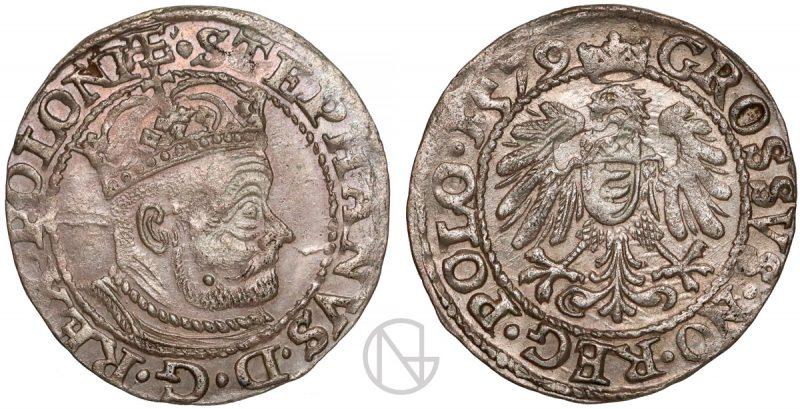 Grosz Olkusz 1579 Stefan Batory