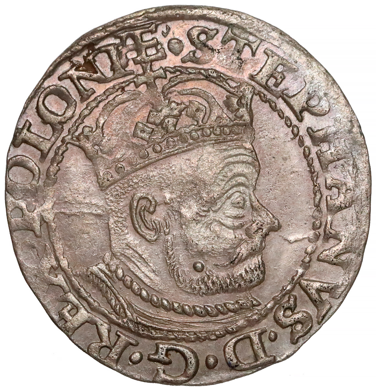 Awers Grosz Olkusz 1579 Stefan Batory