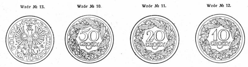 Wzory groszy 1924 ujęte w rozporządzeniu