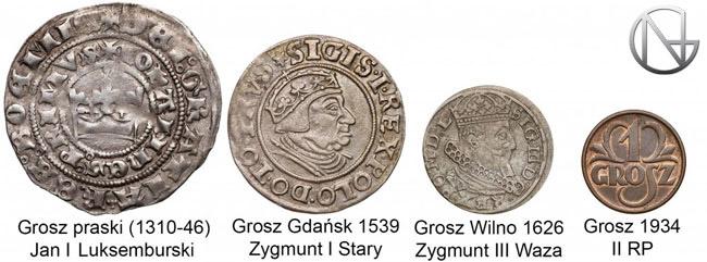 Monety groszowe na przełomie 600 lat