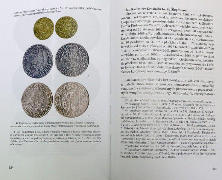 Strona 184 z książki Herby urzędników polskich i litewskich Zbigniew Kiełb