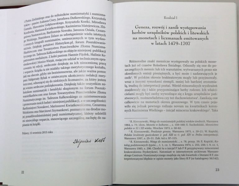 Strona 22 z książki Herby urzędników polskich i litewskich Zbigniew Kiełb