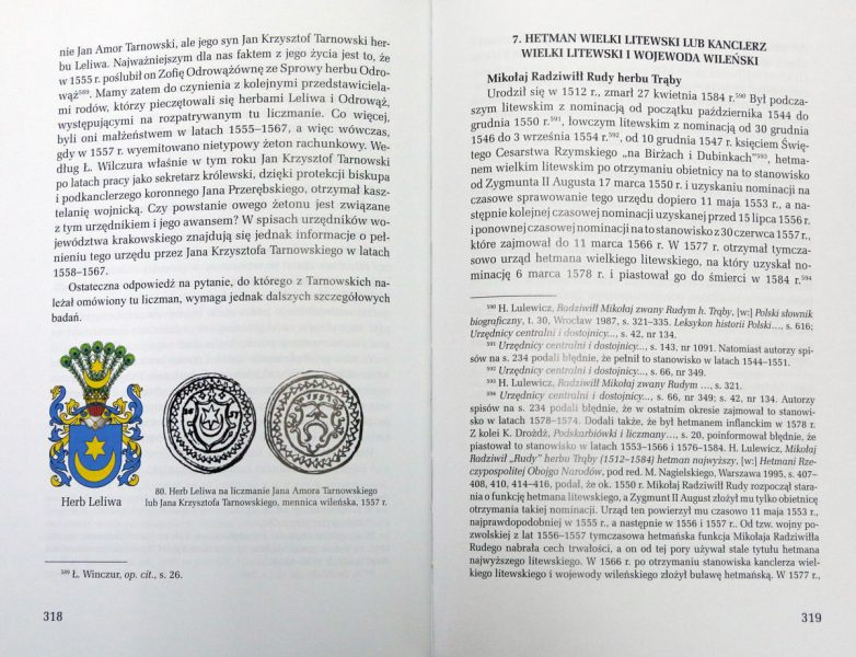 Strona 318 z książki Herby urzędników polskich i litewskich Zbigniew Kiełb