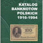 Przednia okładka Katalogu Banknotów Polskich 1916-1994 Czesława Miłczaka wydanie 2000