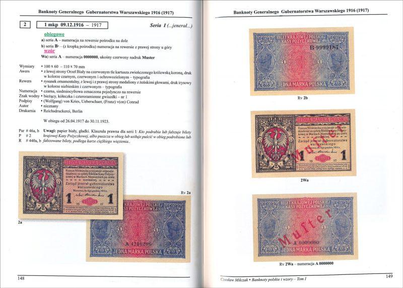 Strona 148 Katalogu banknoty polskie i wzory Czesława Miłczaka wydanie 2012