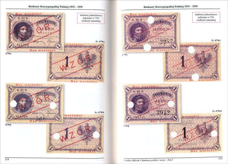 Strona 314 Katalogu banknoty polskie i wzory Czesława Miłczaka wydanie 2012