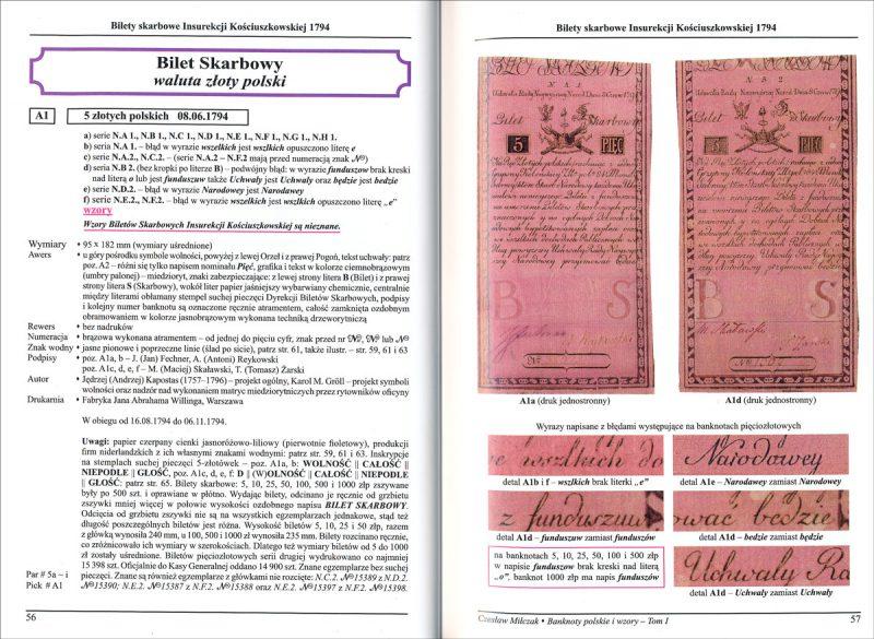 Strona 56 Katalogu banknoty polskie i wzory Czesława Miłczaka wydanie 2012
