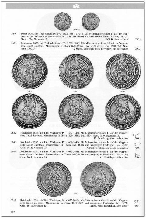 Strona 102 katalogu 76 aukcji Kuenker