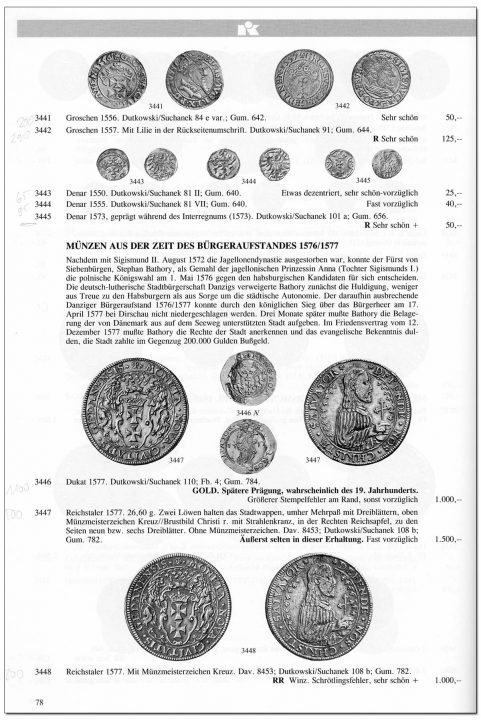 Strona 78 katalogu 76 aukcji Kuenker