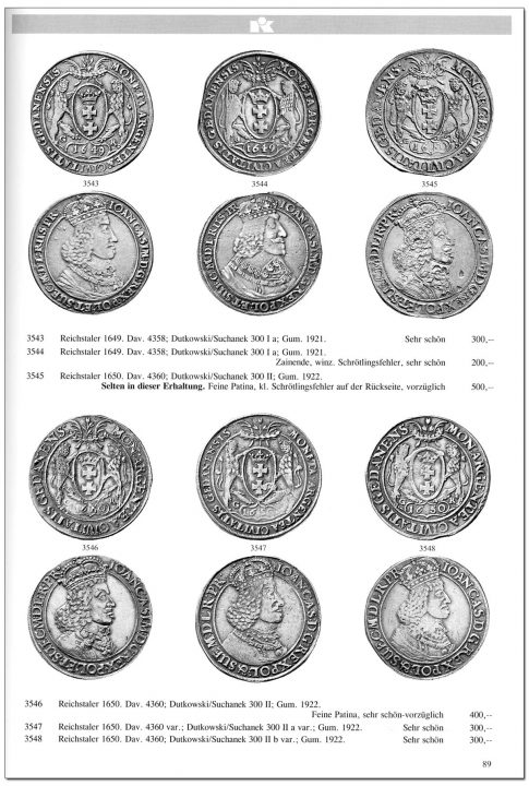 Strona 89 katalogu 76 aukcji Kuenker